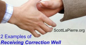 2 Examples of Receiving Correction Well