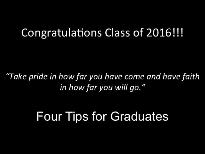 4 graduation tips for seniors