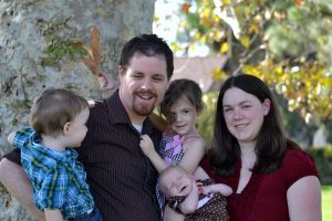 Matthew J. Elliot and family - author of Reflecting Christmas