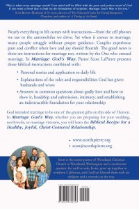 Marriage God's Way by Scott LaPierre back cover