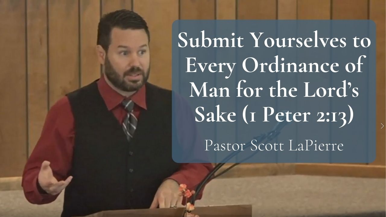 Submit Yourselves to Every Ordinance of Man for the Lord's Sake (1 Peter 213)-Appealing Vs Rebelling