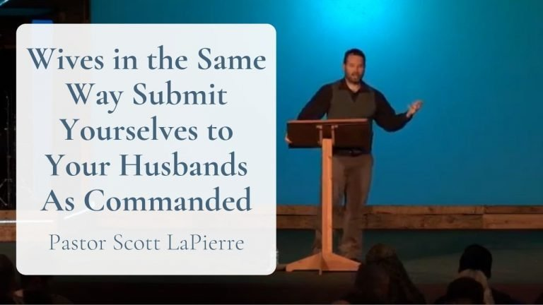 Wives in the Same Way Submit Yourselves to Your Husbands As Commanded