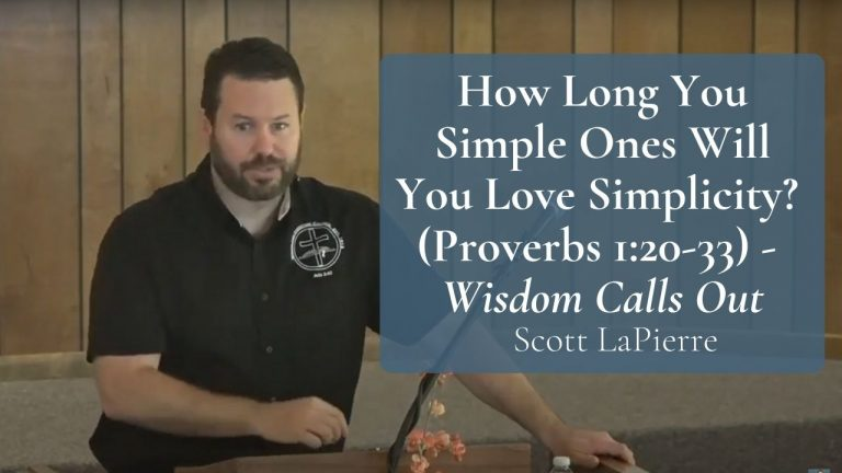 How Long You Simple Ones Will You Love Simplicity (Proverbs 120-33) - Wisdom Calls Out