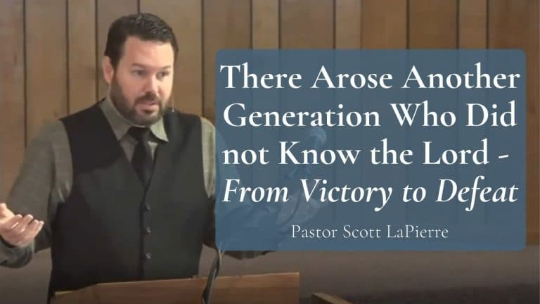 There Arose Another Generation Who Did not Know the Lord From Victory to Defeat