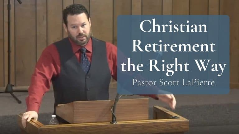 Christian Retirement the Right Way