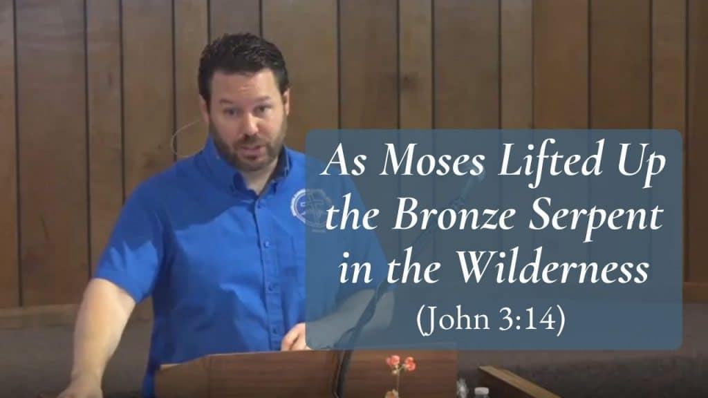 As Moses Lifted Up the Bronze Serpent in the Wilderness